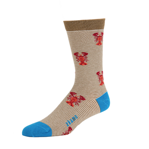 Lobsters Mushroom Organic Cotton Crew Socks - Large Unisex