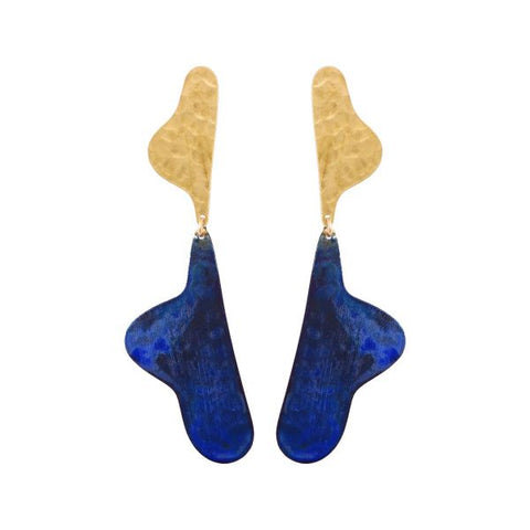Navy Sculptura Earrings