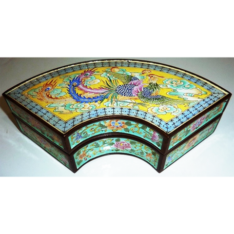 Phoenix Arched Cloisonné Covered box