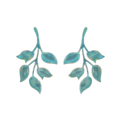 Verdigris Single Ophelia Earrings