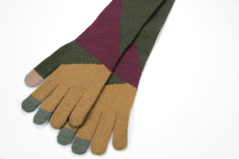 Zig-Zag Tech Gloves - Unisex