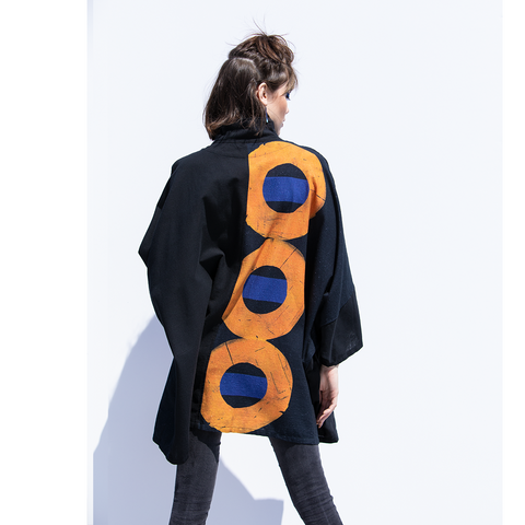 Abstract Circles Cotton Jacket