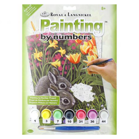 Spring Bunnies Paint by Numbers - Small