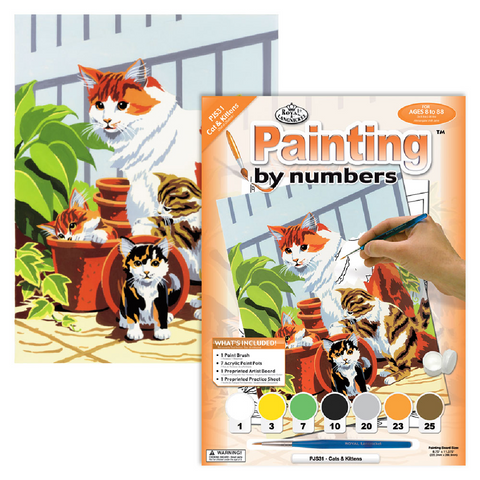 Cats and Kittens Paint by Numbers - Small
