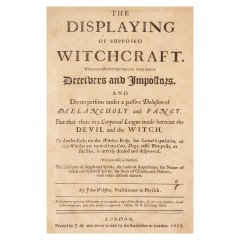 PEM Collection Print: The Displaying Supposed Witchcraft