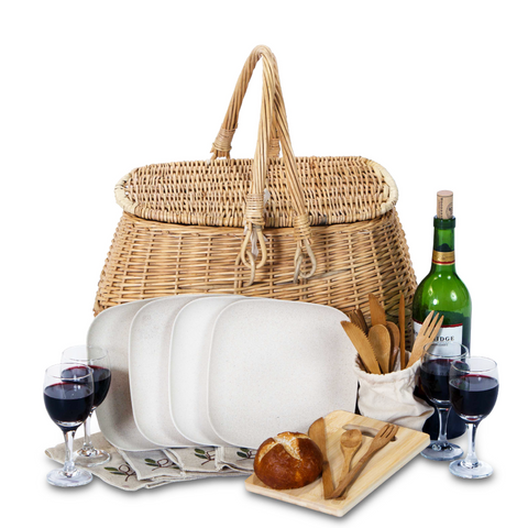 Sustainable Picnic Basket Set - 4 Person
