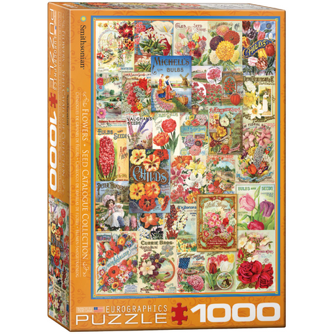 Flowers Seeds Catalogue - 1000 Piece Puzzle