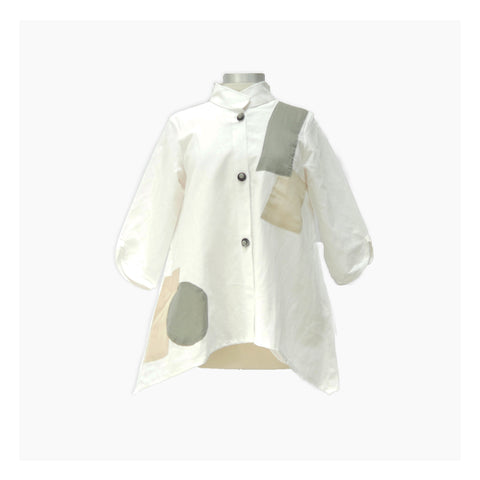 White Button Down Linen Jacket