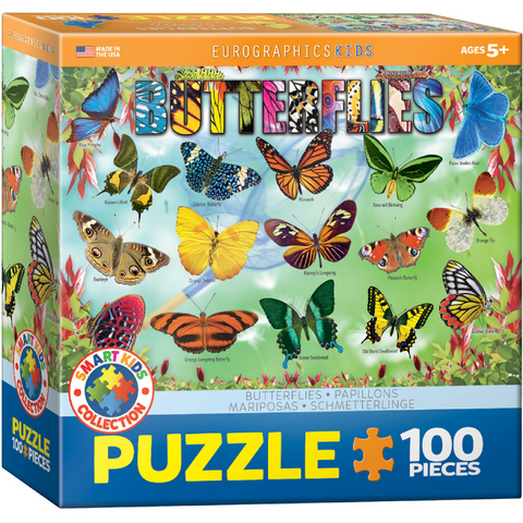 Garden Butterflies - 100 Piece Puzzle for Kids