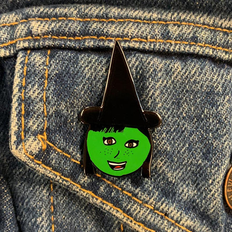 Black Hat Witch Enamel Pin by Georgia Made This