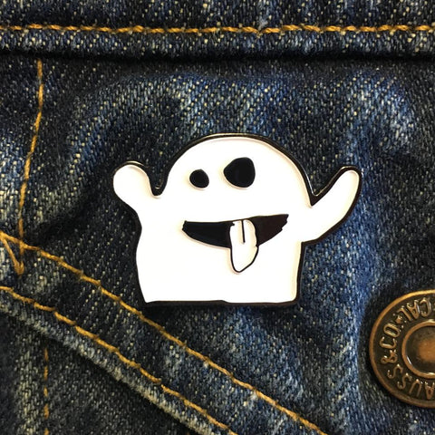 Ghost Enamel Pin by Georgia Made This
