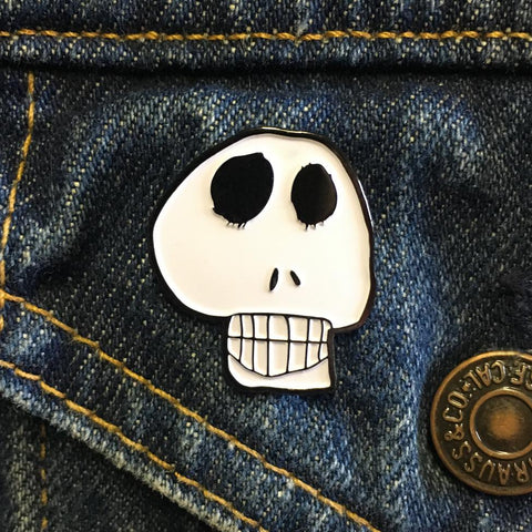 Skull Enamel Pin by Georgia Made This