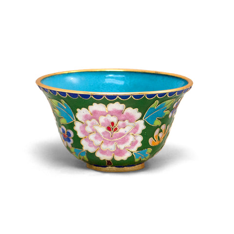 Green Cloisonne Bowl