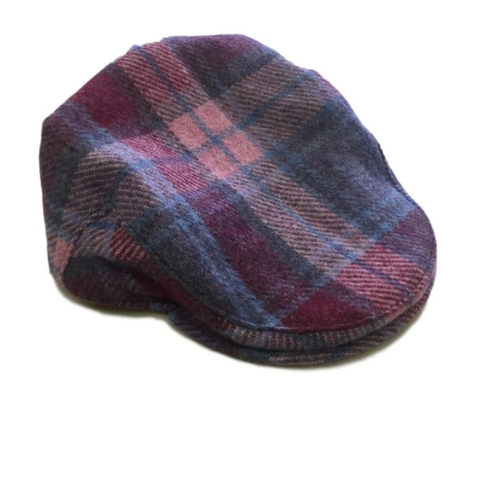 Harris Tweed Flat Cap - Rose