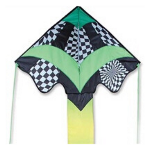 Green Op Art Large Easy Flyer Kite