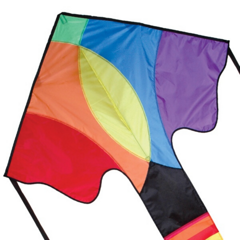 Contemporary Rainbow Large Easy Flyer Kite