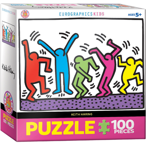 Dancing by Keith Haring - 100 Piece Puzzle for Kids