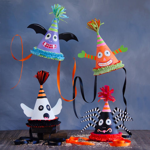 Kooky Spooky Party Hats by Glitterville