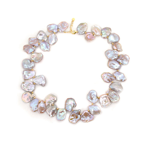 Lavender Biwa Pearl Necklace