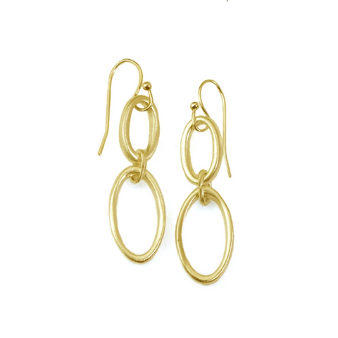 Linked Oval Earrings by Philippa Roberts
