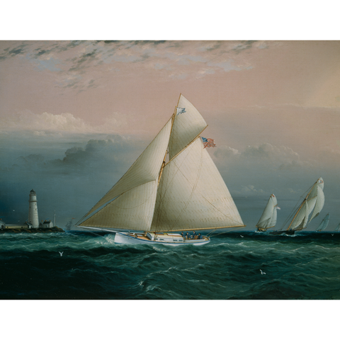 PEM Collection Masks: Yacht Race in Boston Harbor