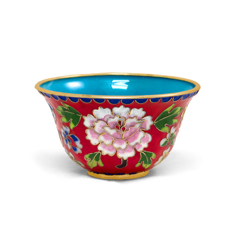 Red Cloisonne Bowl