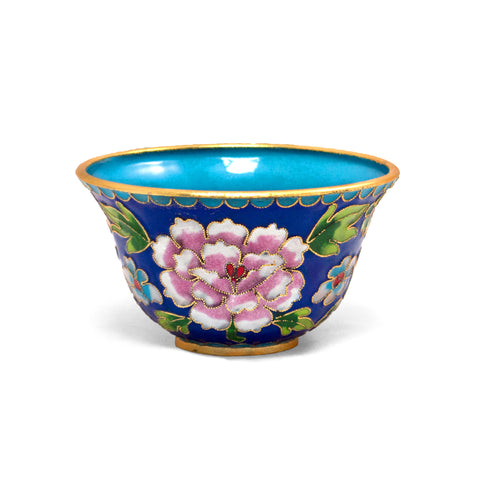 Blue Cloisonne Bowl