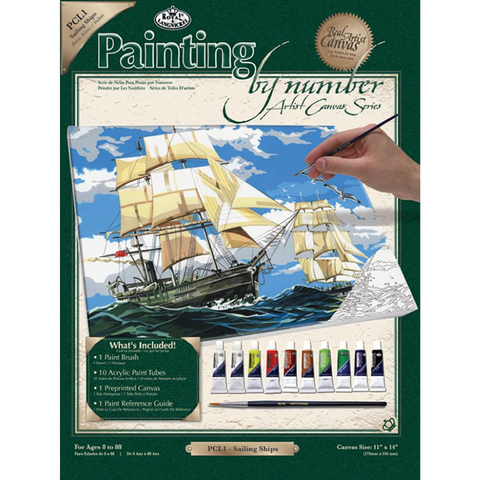 Sailing Ships Paint by Numbers - Large Canvas