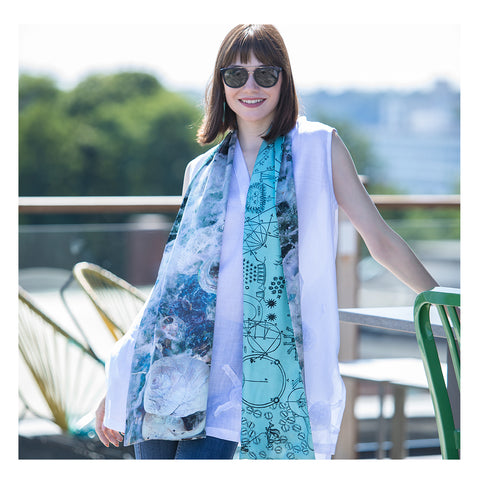Olivia Parker Exclusive Two-Sided Scarf