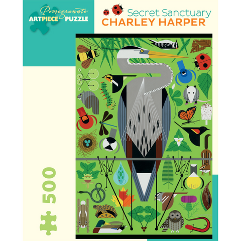 Charley Harper: Secret Sanctuary Puzzle - 500 Pieces