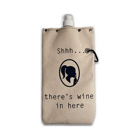 Shh...Wine Canvas Canteen 750ml