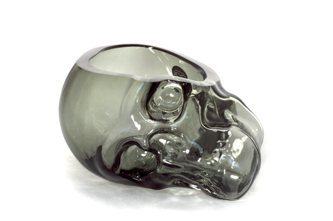 Small Handmade Glass Skull Vase