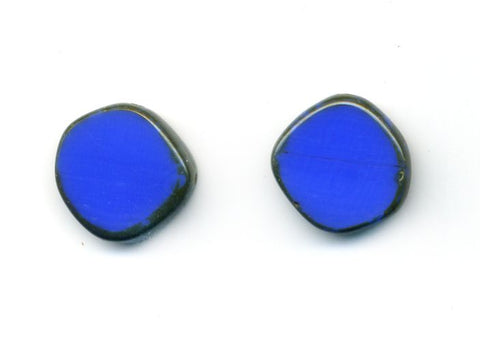 Glass Circle Stud Earrings Periwinkle Blue - Stefanie Wolf