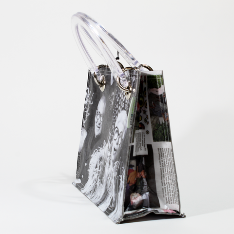 Iris Apfel Recycled Newspaper Handbag