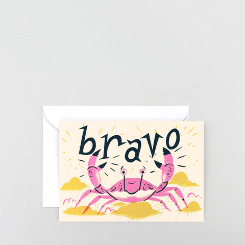 'Bravo' Greetings Card