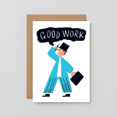'Good Work' Greetings Card