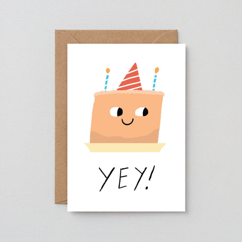 'Yey!- Cake' Greetings Card