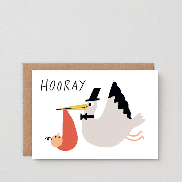 'Hooray Stalk' Greetings Card
