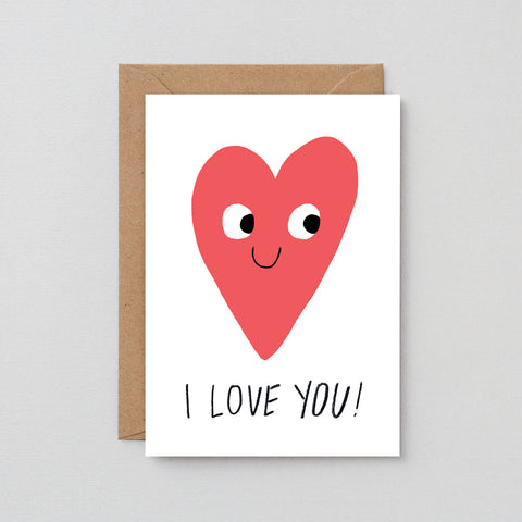 'I Love You Heart' Greetings Card