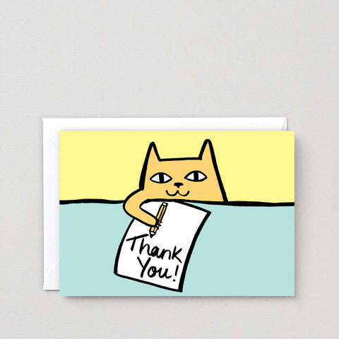 'Thank You Cat' Greetings Card