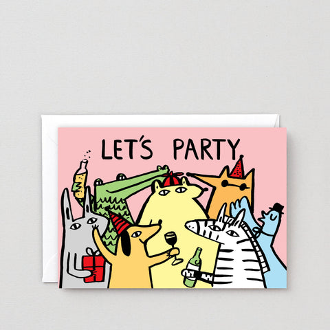 'Let's Party' Greetings Card