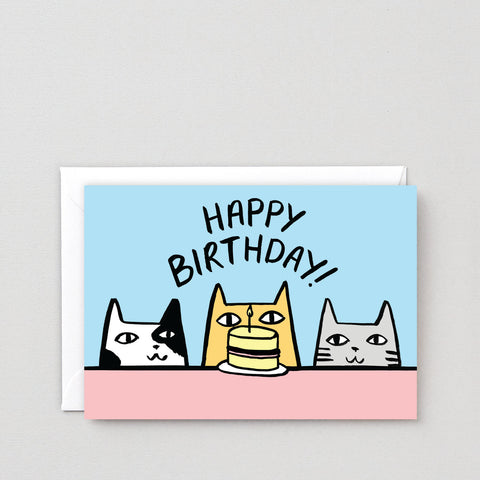 'Happy Birthday Cats' Greetings Card