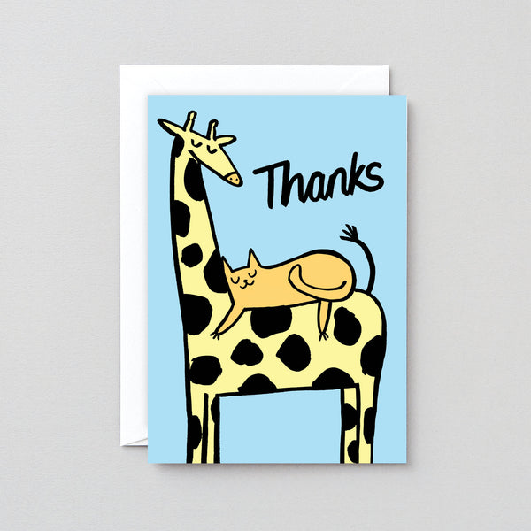 'Thanks Giraffe' Greetings Card