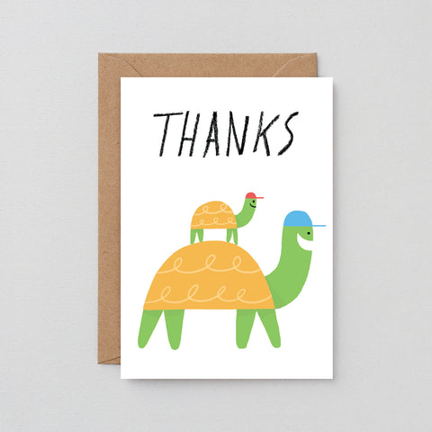 'Thanks Tortoise' Greetings Card