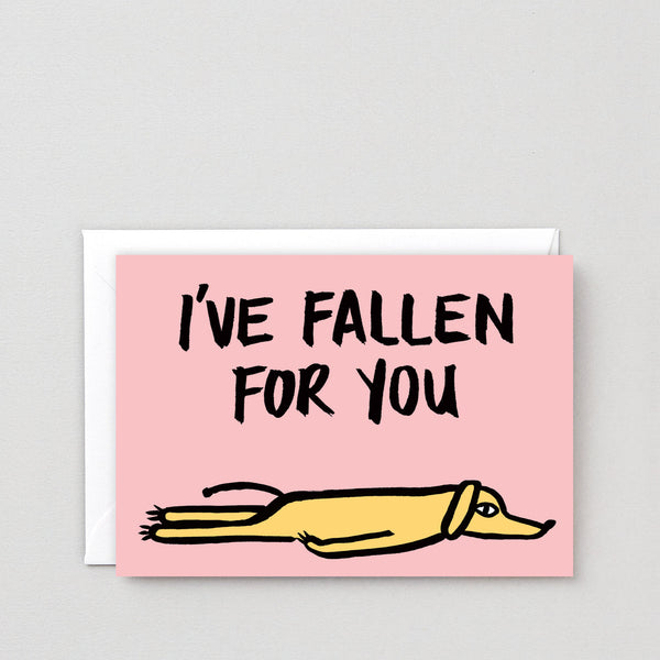 'Fallen For You' Greetings Card