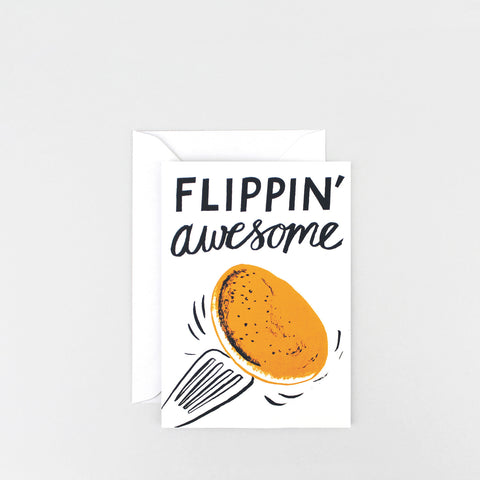 'Flippin' Awesome' Greetings Card