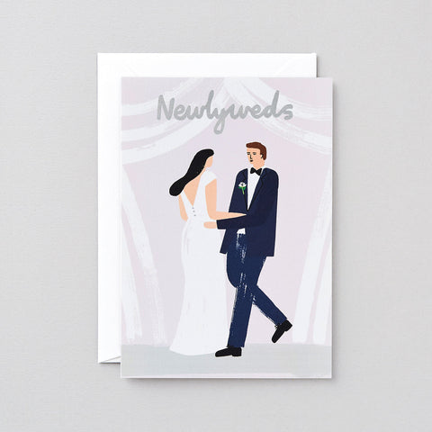'Newlyweds' Foiled Greetings Card