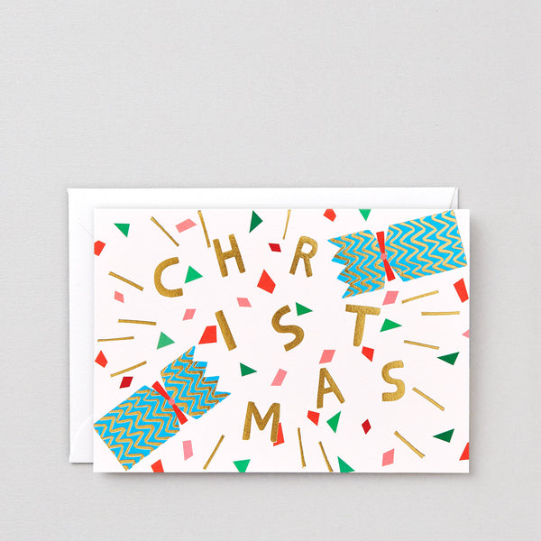 'Christmas Cracker' Foiled Greetings Card