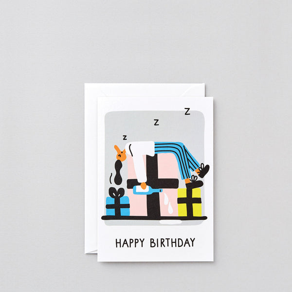 'Birthday Snooze' Greetings Card