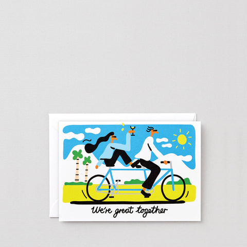 'We're Great Together' Greetings Card